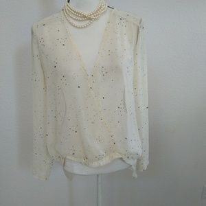 Peppermint ivory blouse size medium